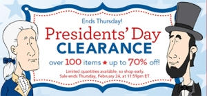 Improvements Presidents Day Sale